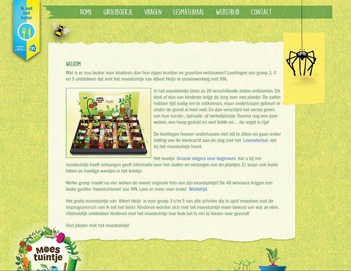 AH Moestuintjes website